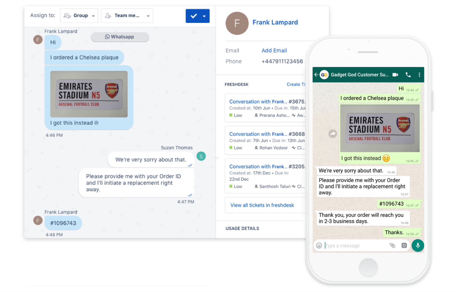Freshchat and WhatsApp Integration | Go where your users are