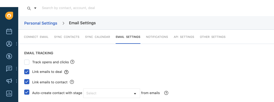 Track Emails in CRM